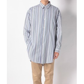 【67%OFF】 チャオパニック マルチストライプロングシャツ メンズ ブルー F 【Ciaopanic】 【タイムセール開催中】