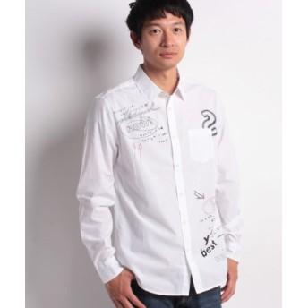(Desigual/デシグアル)「Desigual/デシグアル」シンプルな白シャツ/メンズ ホワイト系