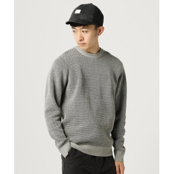 【50%OFF】 ビームス アウトレット BEAMS / リバーワッフル クルーネック メンズ TOPGREY S 【BEAMS OUTLET】 【セール開催中】
