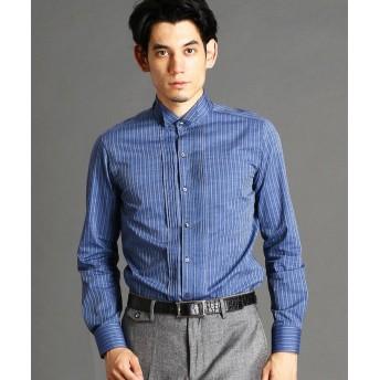 ムッシュニコル ストライプ柄ウィングカラーシャツ メンズ 60ブルー 50(LL) 【MONSIEUR NICOLE】