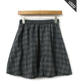 エーアンドエー ひざ丈スカート(ランク:B) レディース 紺 M 【AandA】