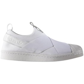 adidas women's adidas アディダス SS Slip On W スニーカー スニーカー,ランニングホワイト/ランニングホワイト/コアブラック