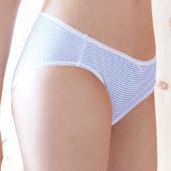 【easybody】萌混搭 低腰三角褲(條紋藍)