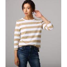 アンタイトル 綿アルティマボーダーTシャツ レディース キャメル(341) 03(L) 【UNTITLED】