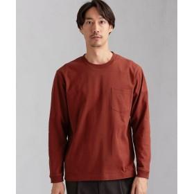 グリーンレーベルリラクシング SC ヘビーウェイト クルー 長袖 Tシャツ メンズ RED S 【green label relaxing】