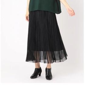 【COMME CA:スカート】マットオーガンジー プリーツスカート