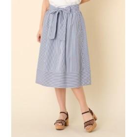 (Couture Brooch/クチュールブローチ)◆【洗える】ランダムストライプスカート/レディース ネイビー(393)