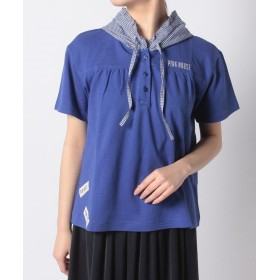 【60%OFF】 ピンクハウス/インゲボルグ カノコ フードTシャツ レディース ブルー 3 【PINK HOUSE / INGEBORG】 【タイムセール開催中】