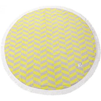 <OLSIA/オルシア> Round & Round Round towel large イエロー×グレー 【三越・伊勢丹/公式】