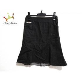 バーバリーロンドン スカート サイズ38 L レディース 美品 黒 デニム/カットオフ  値下げ 20191011
