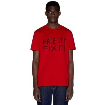 【48%OFF】 ベネトン(ユナイテッド カラーズ オブ ベネトン) FABRICAデザイン半袖Tシャツ・カットソー2 メンズ レッド S (国内M相当) 【BENETTON (UNITED COLORS OF BENETTON)】 【セール開催中】