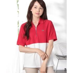 (LACOSTE/ラコステ)スリムフィット カラーブロック ポロシャツ (半袖)/レディース レッド 送料無料