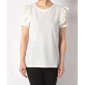 【70%OFF】 デシグアル Tシャツ レディース ホワイト系 S 【Desigual】 【タイムセール開催中】
