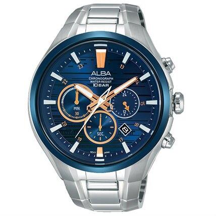 ALBA VD53-X279B(AT3C05X1) 廣告款活力型男計時腕錶/46mm