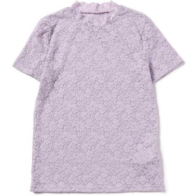 【60%OFF】 ビームス アウトレット Ray BEAMS / ストレッチレース 半袖 Tシャツ レディース LAVENDER ONESIZE 【BEAMS OUTLET】 【セール開催中】