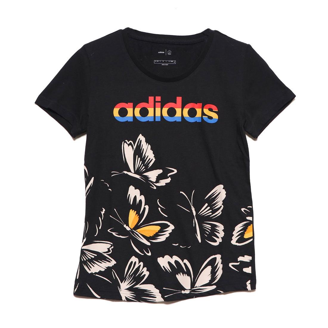 adidas D2m Logo Tee T T shirts T Shirt Femme Femme Femme