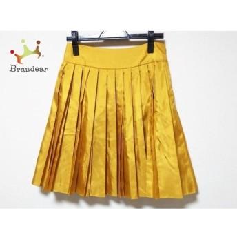 ドレステリア DRESSTERIOR スカート サイズ38 M レディース 美品 ゴールド プリーツ 新着 20190804