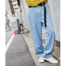 ジュンレッド/【WEB別注】デニムベイカーワイドパンツ/ブルー/S