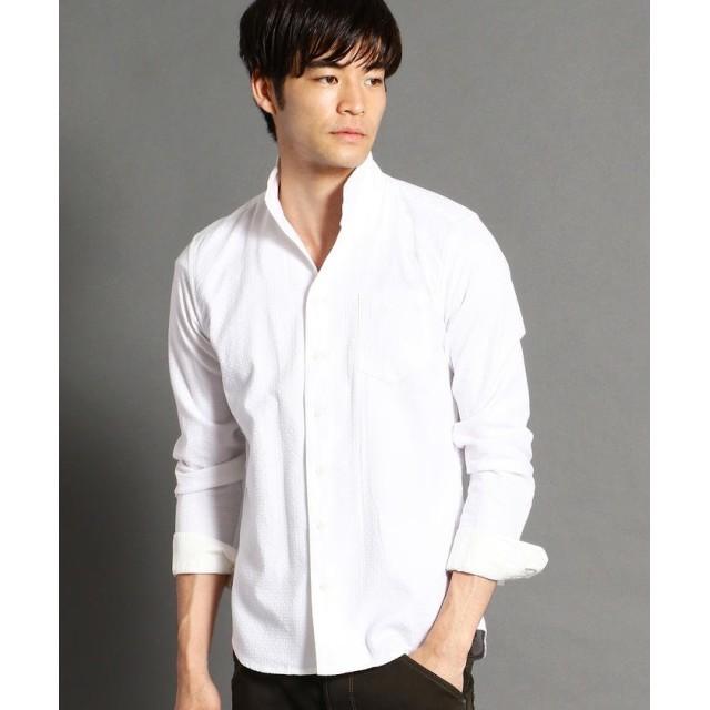 ニコルクラブフォーメン ショートイタリアンカラー長袖シャツ メンズ 09ホワイト 46(M) 【NICOLE CLUB FOR MEN】