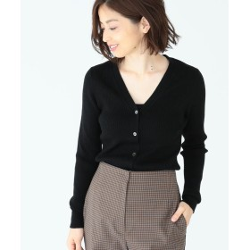 【50%OFF】 ビームス アウトレット Demi Luxe BEAMS / リブ Vネックカーディガン レディース BLACK ONE SIZE 【BEAMS OUTLET】 【セール開催中】