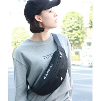 (THE SHOP TK/ザ ショップ ティーケー)【KANGOL/カンゴール別注】ウエストポーチ/サコッシュ/メンズ ブラック(019)
