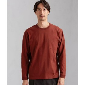 (green label relaxing/グリーンレーベルリラクシング)SC ヘビーウェイト クルー 長袖 Tシャツ/メンズ RED