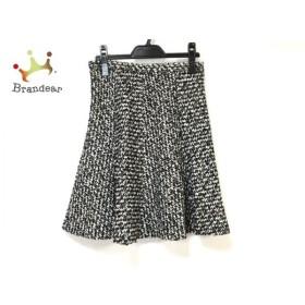 ジャスグリッティー JUSGLITTY スカート サイズ2 M レディース 美品 黒×白 ラメ 新着 20190804