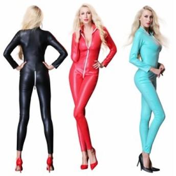 ボンテージのキャットスーツ 仮装 衣装 セクシー キャットウーマン コスプレ ボンテージ 衣装 女王様 ワンピース ボンテージ ミ