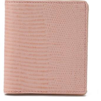 TOPKAPI [トプカピ] TOPKAPI イタリアンレザー・リザード型押し二つ折りミニ財布 LUCIA ルチア 財布,ピンクグレー