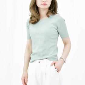 Tシャツ - argo-tokyo 【ME LOVE】レディースファッション通販/韓国ファッション/半袖/オフィスファッション/シンプル/可愛い/カジュアル/海/春夏物/涼しいコーデ/リゾート/スクエアネックニットトップス