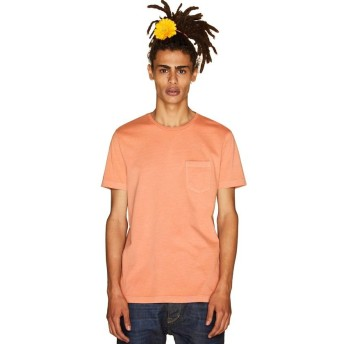 【70%OFF】 ベネトン(ユナイテッド カラーズ オブ ベネトン) 製品染めポケットTシャツ・カットソー メンズ オレンジ L 【BENETTON (UNITED COLORS OF BENETTON)】 【セール開催中】