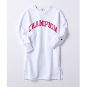 Champion ロゴプリントワンピース キッズ オフシロ