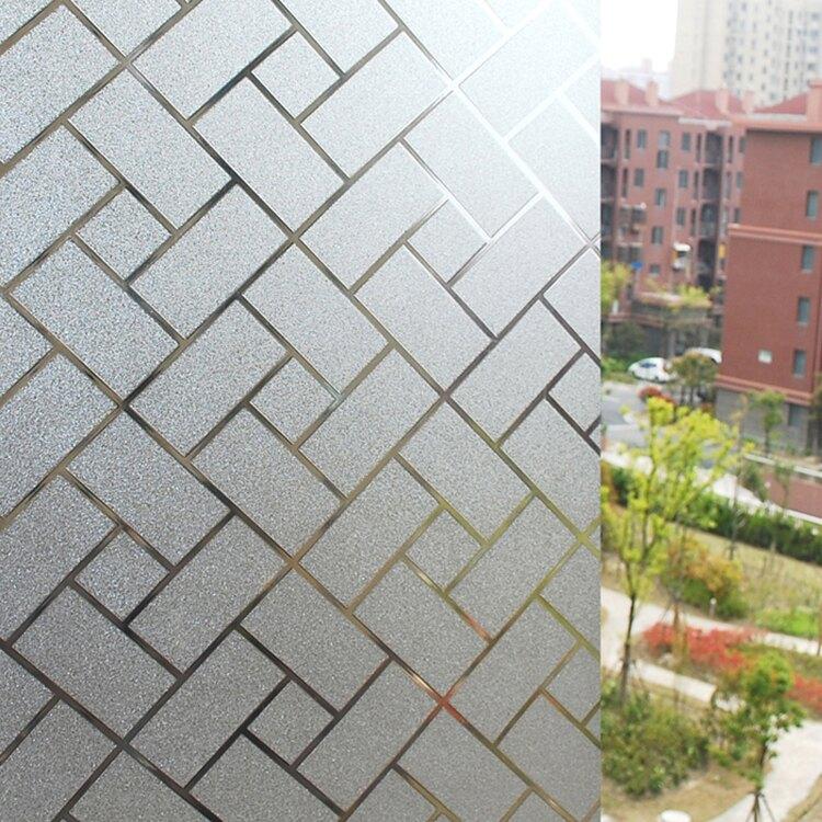 WallFree 居家無膠靜電玻璃貼膜 防曬貼紙-竹編籐