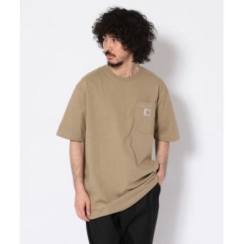 アンカットバウンド carhartt(カーハート) Workwear Pocket SS TーShirts メンズ BEIGE S 【UNCUT BOUND】