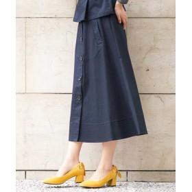 【40%OFF】 アー・ヴェ・ヴェ ミディーフレアトレンチスカート[WEB限定サイズ] レディース ネイビー S 【a.v.v】 【セール開催中】