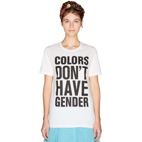 【69%OFF】 ベネトン(ユナイテッド カラーズ オブ ベネトン) マルチカラーロゴ半袖Tシャツ・カットソー(男女兼用) ユニセックス ホワイト XS 【BENETTON (UNITED COLORS OF BENETTON)】 【セール開催中】