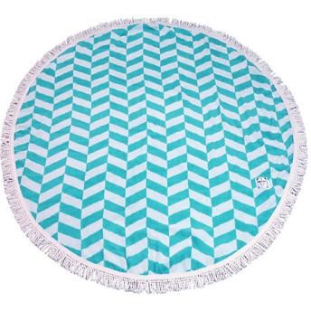 <OLSIA/オルシア> Round & Round Round towel large ブルー×ホワイト 【三越・伊勢丹/公式】
