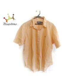 ラルフローレン RalphLauren 半袖シャツ サイズLL メンズ オレンジ×白 チェック柄 新着 20190804