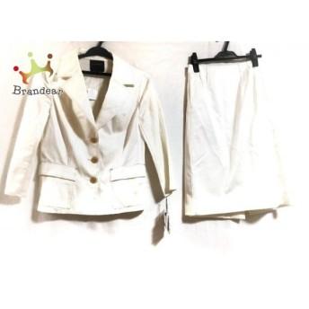 ランバンコレクション LANVIN COLLECTION スカートスーツ サイズ40 M レディース 新品同様 白 値下げ 20190909