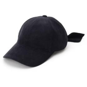 クチュールブローチ バックリボンコーデュロイキャップ レディース ブラック(019) 00(FREE) 【Couture Brooch】