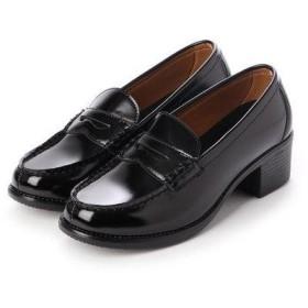 ジオアンドジア GIO&GIA レディース 学生靴 ヒールアップ(+5cm) スクール ローファ 軽量 通勤 通学 撥水加工 軽量 防滑 防臭 衝撃緩