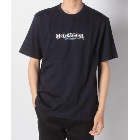 マックレガー McGビンテージ 半袖ロゴTシャツ メンズ ネイビー L 【McGREGOR】