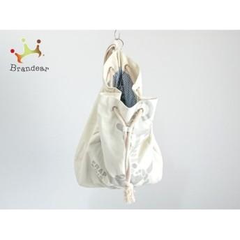 フラボア FRAPBOIS リュックサック 美品 アイボリー×グレー ZOO/巾着型 キャンバス 新着 20190804