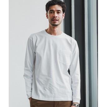 グリーンレーベルリラクシング SC ヘビーウェイト クルー 長袖 Tシャツ メンズ WHITE S 【green label relaxing】