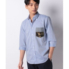 【50%OFF】 ベーセーストック コンビポケットシャツ 7/S メンズ ブルー S 【B.C STOCK】 【セール開催中】