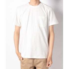 【60%OFF】 ナノ・ユニバース :梨地ソリッドTシャツSS メンズ ホワイト XL 【nano・universe】 【セール開催中】