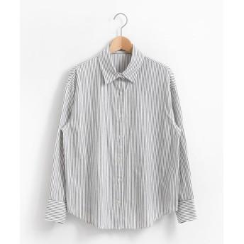 【61%OFF】 ルクールブラン アウトレット キモウコットンビッグシャツ レディース オフ/柄 38 【le. coeur blanc OUTLET】 【タイムセール開催中】