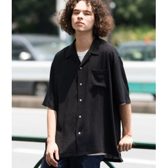 ジュンレッド/【ビッグシルエット】オータムドライ開襟シャツ/ブラック/L