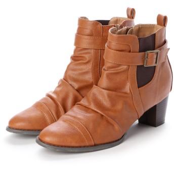 ジーラ GeeRA ベルト付ブーツ (キャメル)
