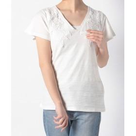 デシグアル Tシャツ レディース ホワイト系 S 【Desigual】